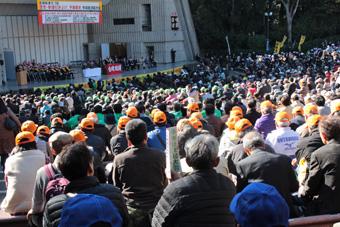 5002人が諸要求実現のため日比谷に集結